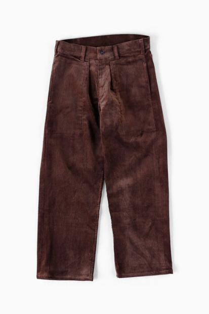 TUKI Corduroy Patched Work Pants (BRN)