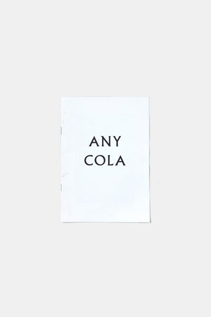 ANY COLA / CLARA PRIOUX (ZINE)