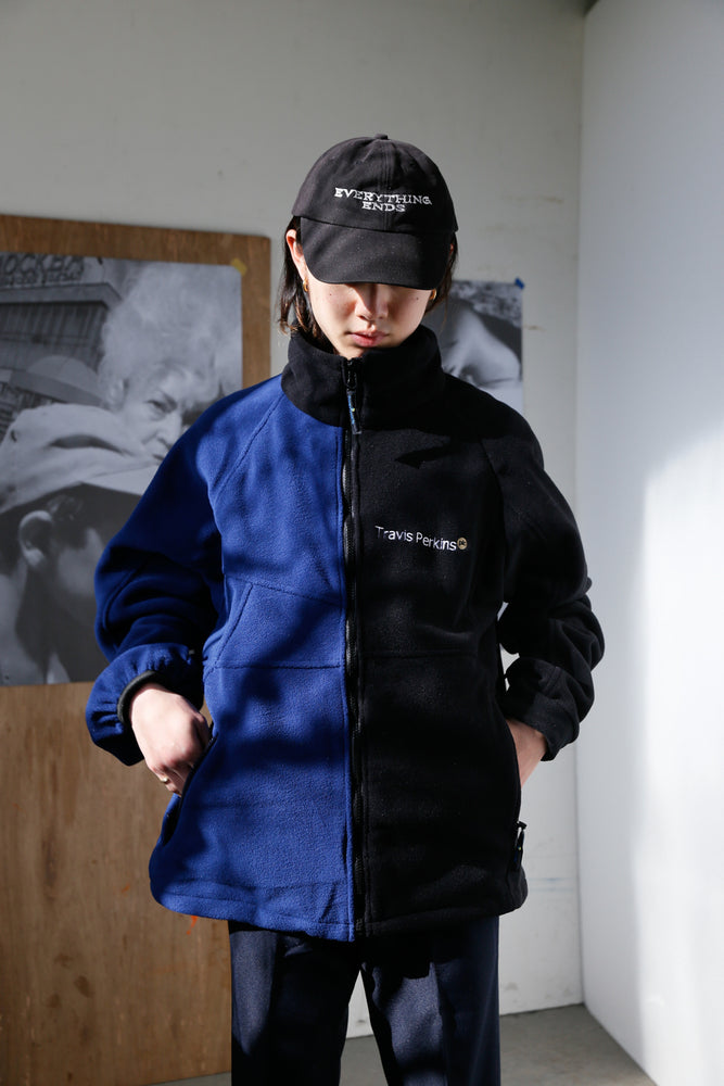Custom Bicolor Company Fleece JKT Blue x Black #1