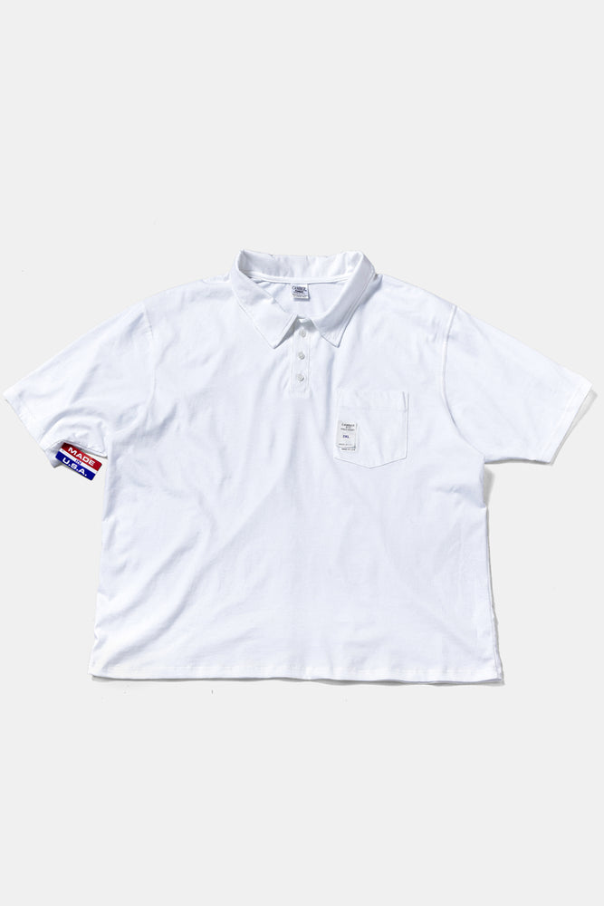CAMBER 3XL S/S POLO WHITE