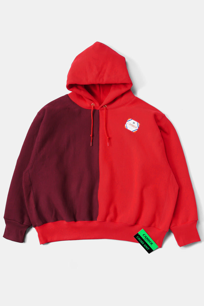 CAMBER Bicolor Big Sweat Parka / Red