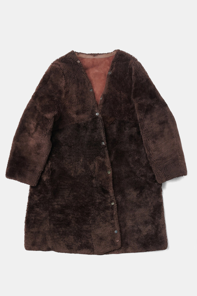 Czech Military Sheepskin Liner Coat Brown