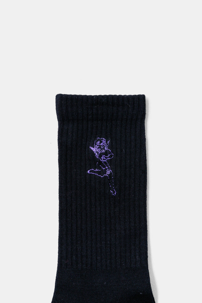 """new romantic"" Sports Socks BLK"