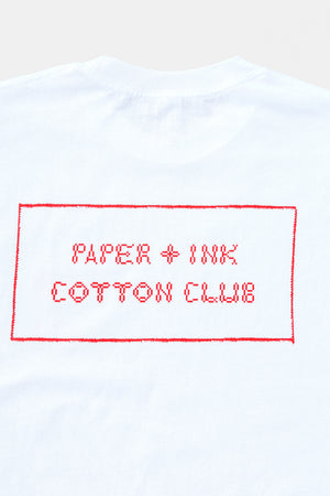 Jordan Nassar x Paper & Ink Cotton Club L/S Tee - WHT