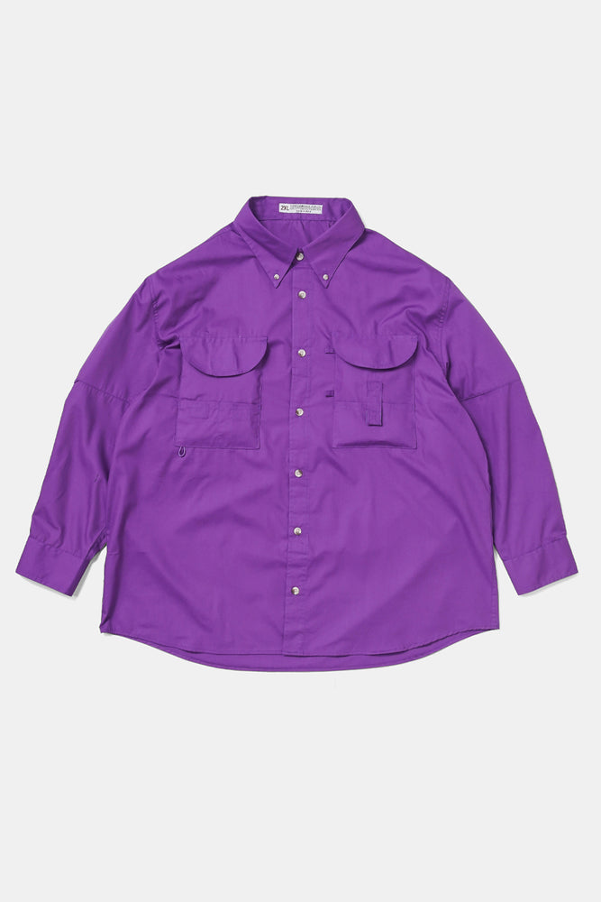 XXL/XXXL Fishing Shirts - Purple
