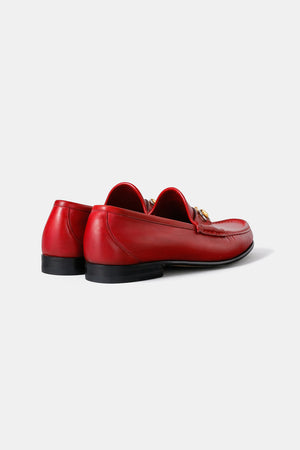 Half Office / GUCCI Red Leather Dress Shoes