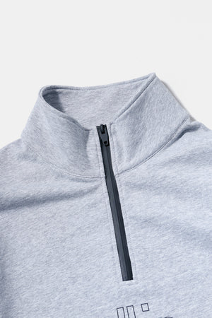 all in Half Zip Pullover (GRY)