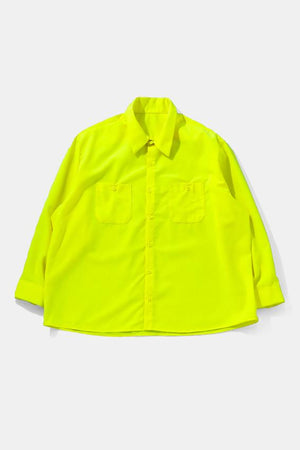 00's Dead Stock 3XL HI-VIS Work L/S Shirt