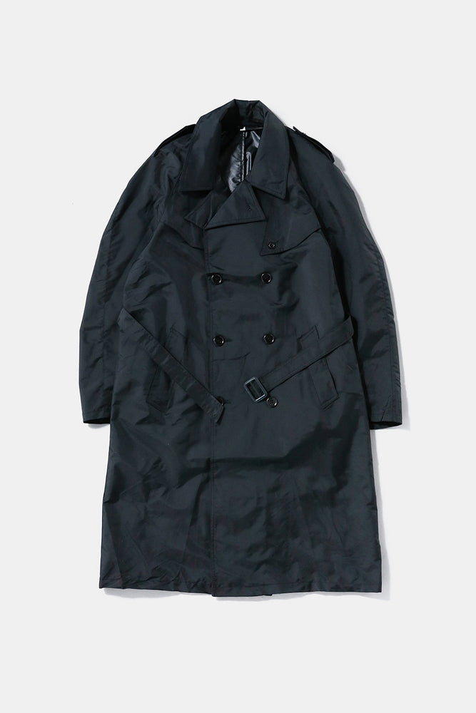 80's Italian Military Nylon Coat Black