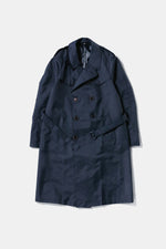 80's Italian Military Nylon Coat Navy