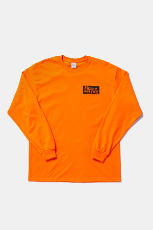 Paper&Ink Dancehall L/S Tee Orange Design by Taeer Maymon