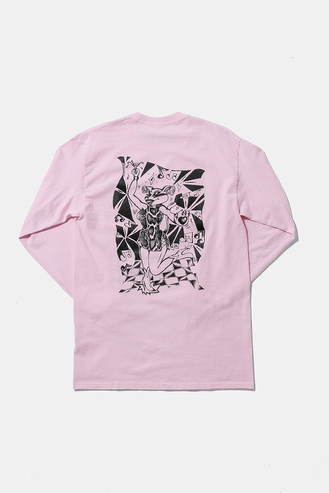 Paper&Ink Dancehall L/S Tee Pink Design by Taeer Maymon