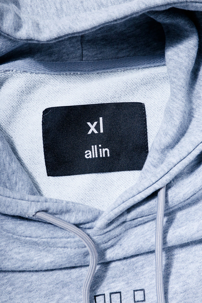 all in Yiddish Hoodie (GRY)
