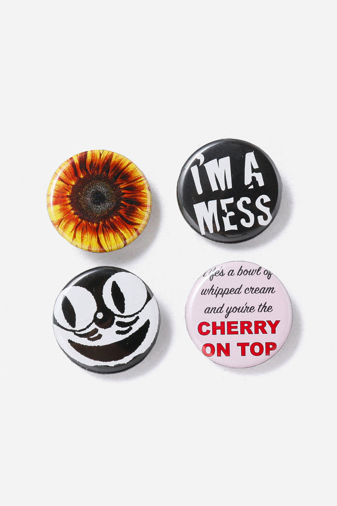 Tony Valentine Sunflower Can badge