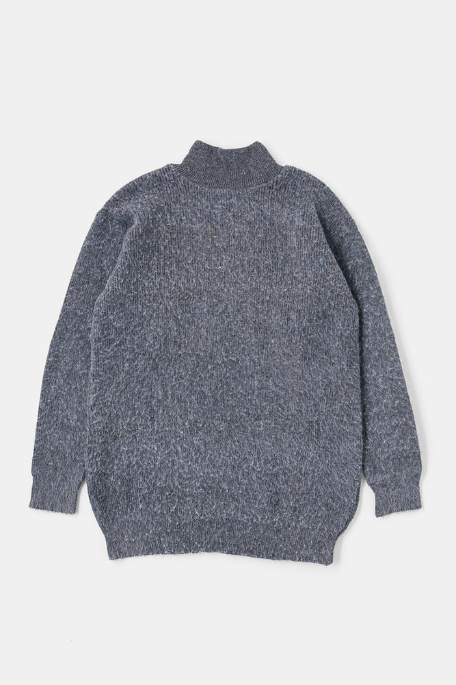 Russian Military Hi-neck Sweater Gray