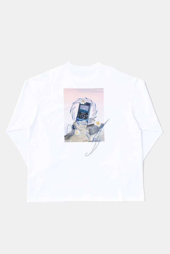"SAMESUNG ""Eternal""L/S Tee ft.Ryan Duffin WHT"