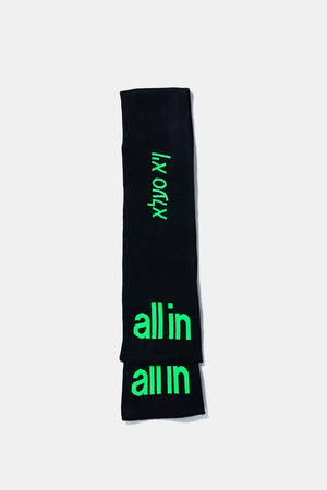 all in Yiddish Scarf (BLK)