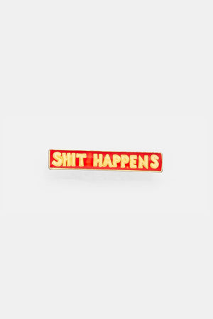 Vtg 70's Bad words Pins / SHIT HAPPENTS