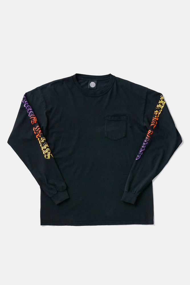 L/S Script Tee Sunset / Silent Sound