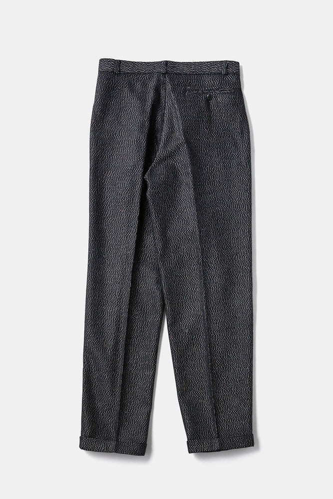 Italian Silver Nep Tuck Trousers