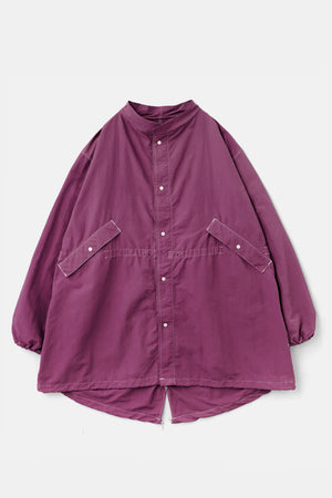 Fifth Over-Dyed Nylon Snow Fishtail JKT Purple