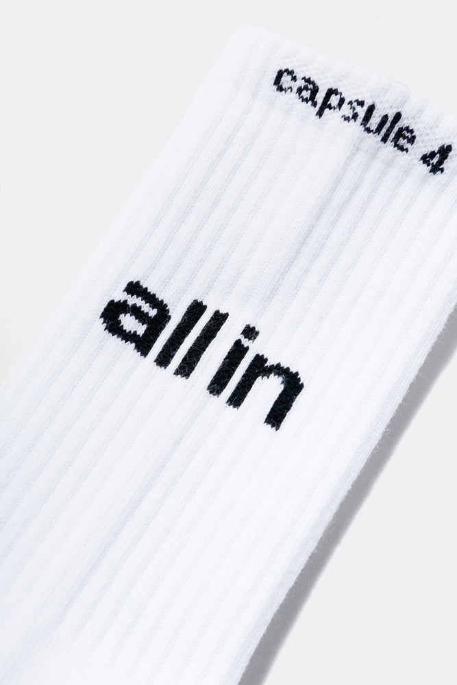all in Yiddish Socks (WHT)