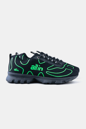 all in Tennis Shoes / BLK x Green-F