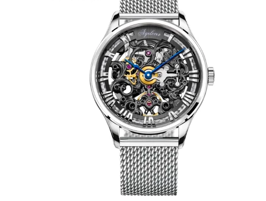 2019 New Luxury-Skeleton, Mechanical-Design, Reserve 80H Watch