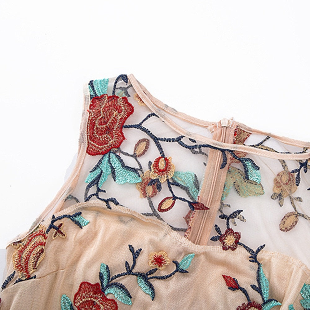 2019 New Women's Embroidered-Boho, Patchwork Dress