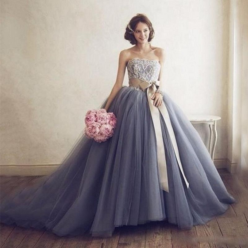 2019 New Bohemian, Puffy-Rigid, with Sash-Bow, Tulle Skirt