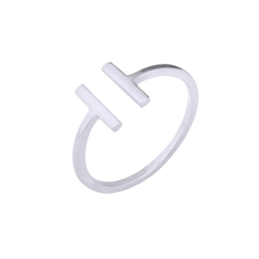 2019 New Simple, Parallel-Bars Adjustable Ring For Women