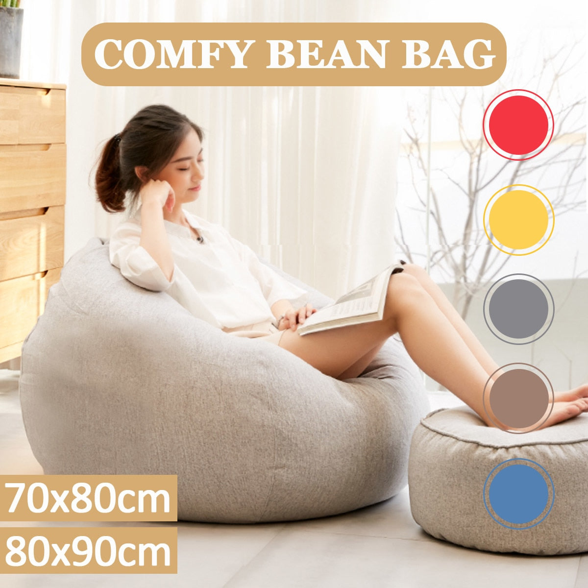 Pleasing Lazy Beanbag Sofas Without Filler Linen Cloth Lounger Seat Bean Bag Cover Chairs Pouf Puff Couch Tatami Living Room Furniture Dailytribune Chair Design For Home Dailytribuneorg