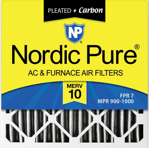 Nordic Pure 20x24x4 MERV 8 Pleated Plus Carbon AC Furnace Air Filters 20 x 24 x 4 2 Piece 3-5//8 Actual Depth