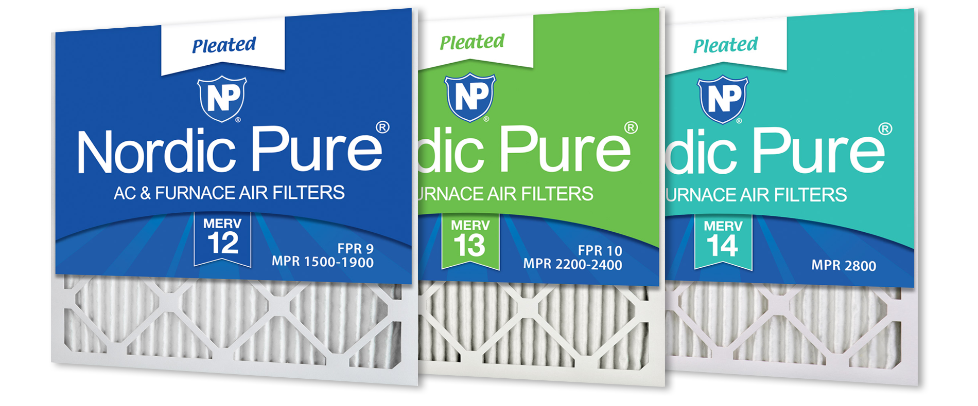 Nordic Pure MERV 12, MERV 13, MERV 14 Pleated - Best for Allergies