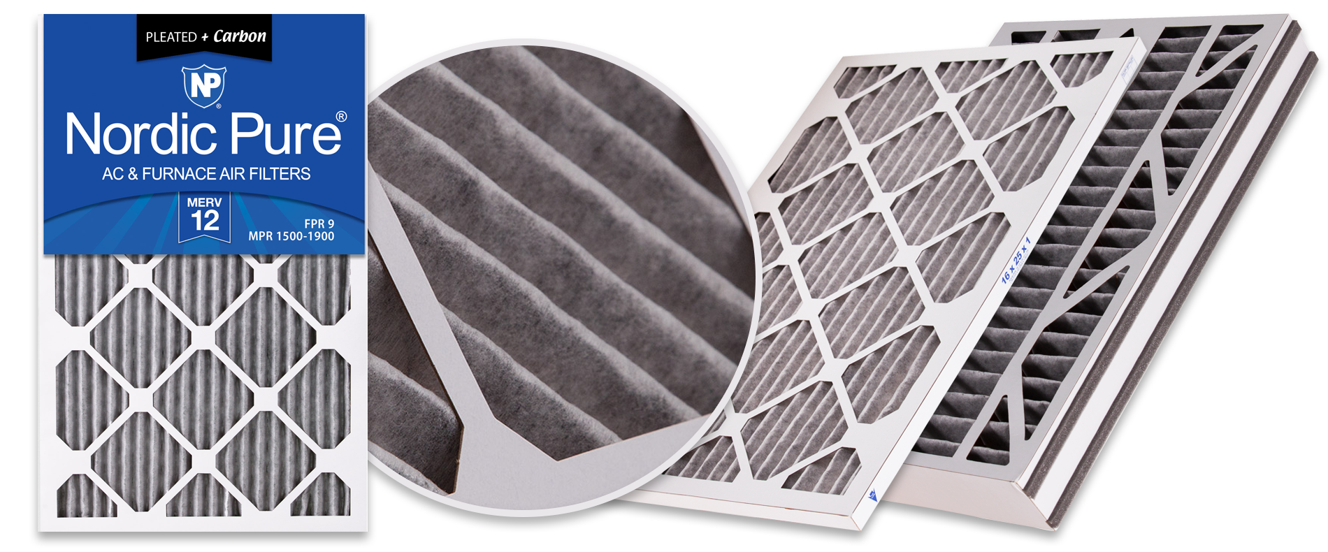 Nordic Pure Pleated Plus Carbon Air Filters - Best for Pet Owners