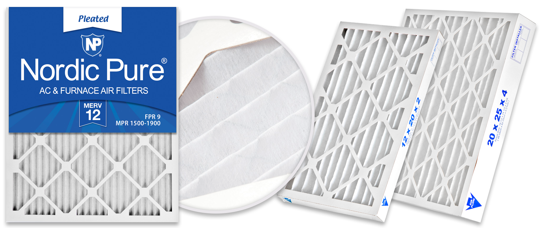 Nordic Pure MERV 12 Pleated Air Filters - best for Pet Owners