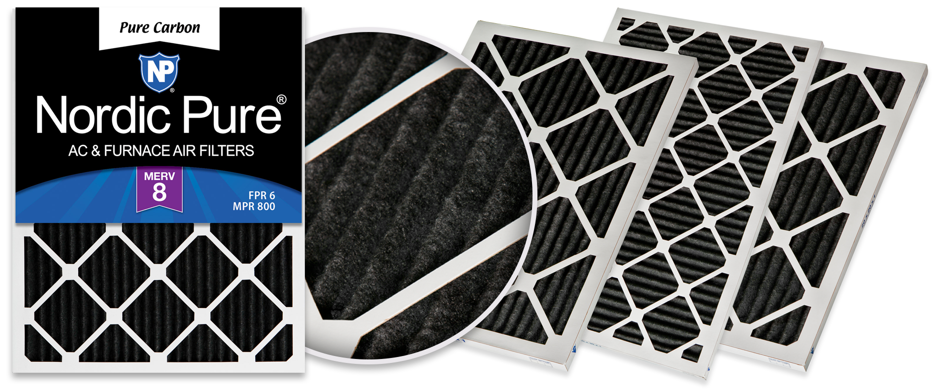 Nordic Pure Pure Carbon Air Filters, MERV 8