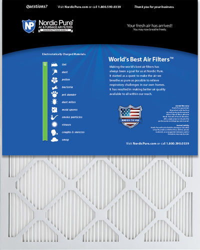 16x20x1 MERV 13 Tru Mini Pleat AC Furnace Air Filters 6 Pack