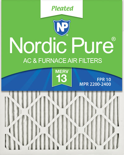 10x20x1 Pleated MERV 13 Air Filters 12 Pack