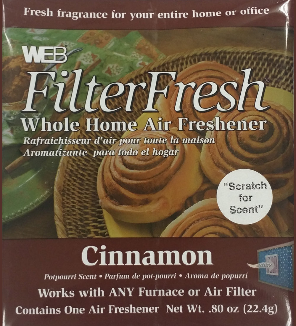 Filter Fresh Home Air Freshener Pads Cinnamon 1 Pack of 18