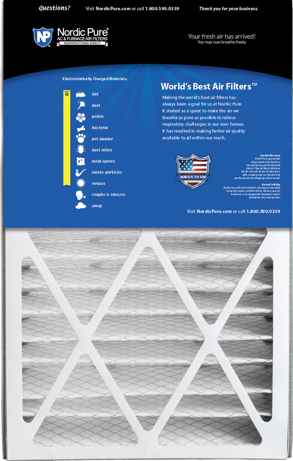 Nordic Pure 17/_1//4x29/_1//4x1 Exact MERV 8 Pleated AC Furnace Air Filters 4 Pack