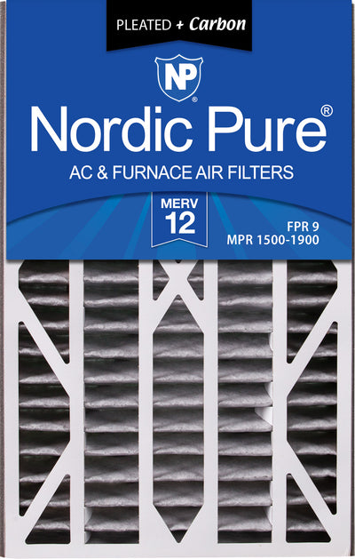 Air Bear Cub 16x25x3 Air Filter Replacement MERV 12 Pleated Plus Carbon 7 Pack