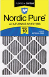 14x25x1 Furnace Air Filters MERV 10 Pleated Plus Carbon 12 Pack