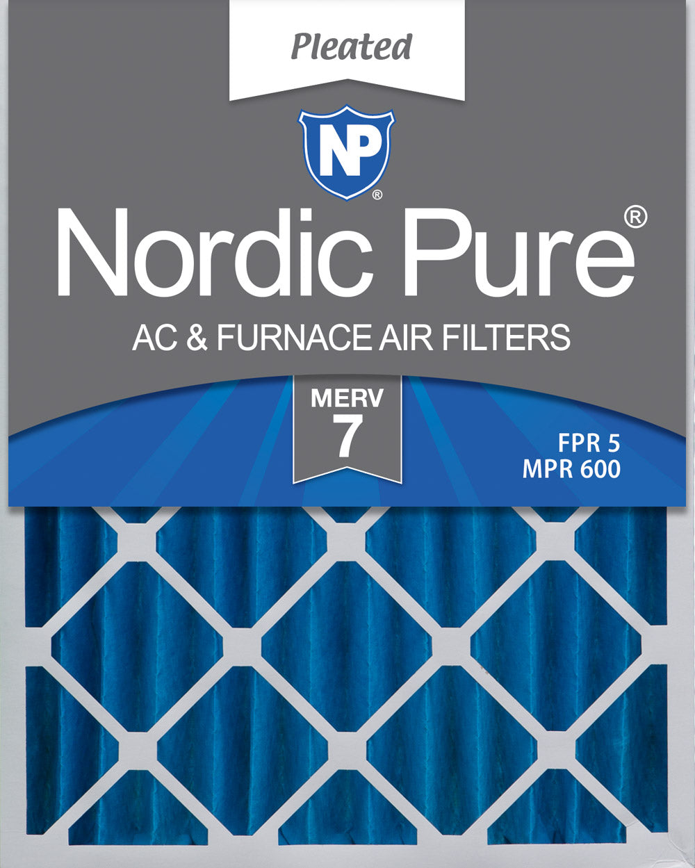 Nordic Pure 16x25x4 MERV 8 Pleated AC Furnace Air Filters 6 Pack 3-5//8 Actual Depth