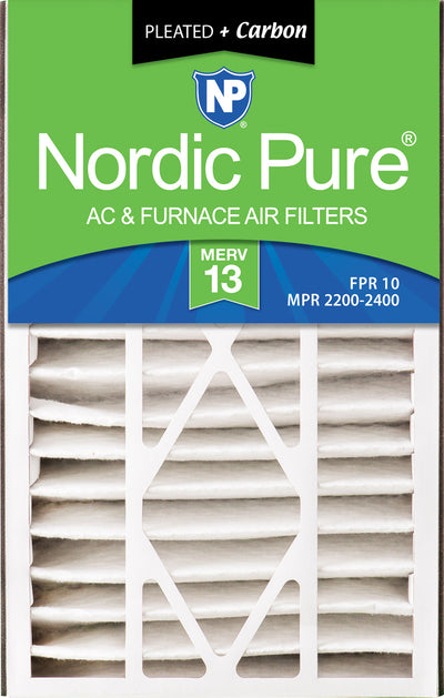 Air Bear 16x25x5 (4 7/8) Air Filter Replacement MERV 13 Plus Carbon 2 Pack