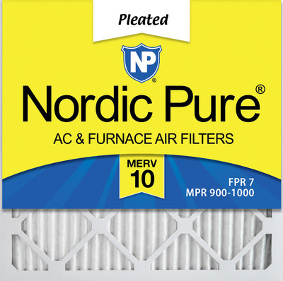 14x14x1 Pleated MERV 10 Air Filters 12 Pack