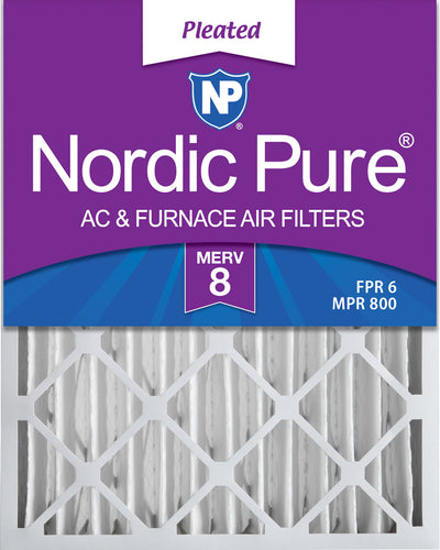 20x25x4 (3 5/8) Pleated MERV 8 Air Filters 6 Pack