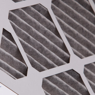 20x20x1 Furnace Air Filters MERV 8 Pleated Plus Carbon 12 Pack
