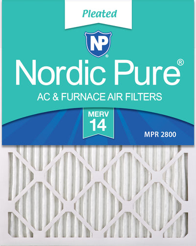 16x20x1 Pleated MERV 14 Air Filters 12 Pack