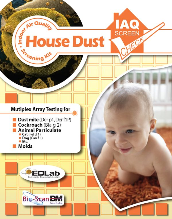 House Dust Allergen IAQ Screen Check Kit Pack of 1